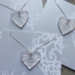 Perspex Heart On A Silver Chain
