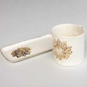 Coffee Mug and Slate Gold Protea
