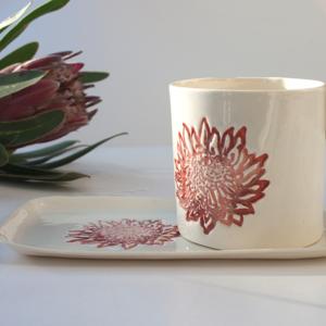 Protea Mug and Sideplate